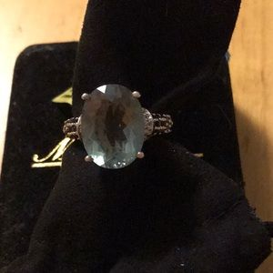 NWT STERLING RING WITH BRAZILLIAN PRASIOLITE